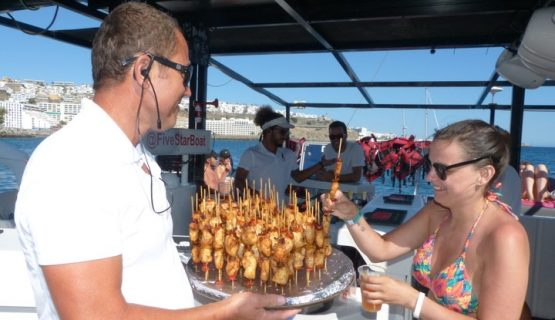 food-on-the-five-star-boat-trip-gran-canaria