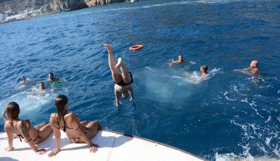 supercat catamaran gran canaria swim stop
